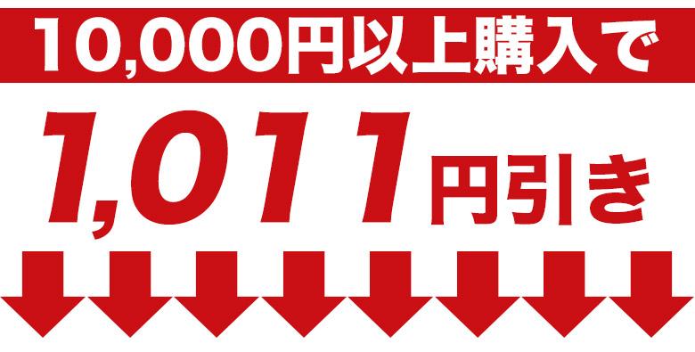一万円以上で1011円引き