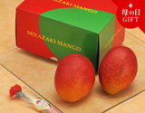《母の日ギフト》『完熟マンゴー』 宮崎県産 大玉2L(350g〜449g)×2玉 化粧箱