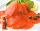『紅鮭のスモークサーモン』 ロシア産 姿切りスライス 約500g ※冷凍