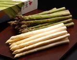 【有機JAS認証】『ホワイト(3L)/グリーン(L)アスパラセット各500g』北海道産 ※冷蔵