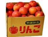 訳アリ早生りんご 山形県産 約10kg(※包材重量込み・26〜54玉前後) 茶箱