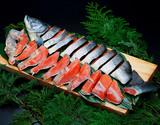 『天然紅鮭』 北洋産 姿 切り身 2kg前後 中辛 ワンフローズン ※冷凍