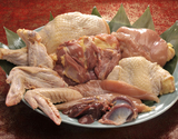 伊達の地鶏『川俣シャモ』 オス1羽(2.3〜2.7kg) 解体済み ガラ・内臓付 ※冷蔵