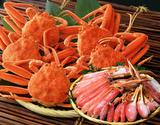 築地の『蟹食べ放題セット』 カット済み生ズワイガニ 1kg & 浜茹でせこ蟹 5尾 ※冷凍