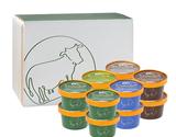 中洞牧場カップアイス 12個入り(ミルク味×4個、ヨーグルト×2個、抹茶×2個、和胡桃×2個、チョコ味×2個) ※冷凍