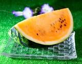 木村さんの『サマーオレンジ西瓜』1玉(4〜5L) 7kg以上 神奈川県産 ※常温