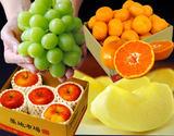 「豊洲・旬のフルーツ福袋3種 合計約3.85kg」 シャインマスカット & りんご & みかん 市場開場一か月記念!